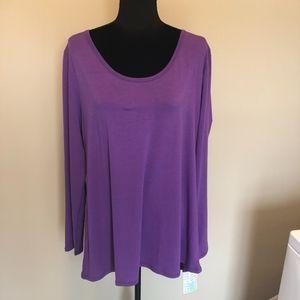 2XL Solid Purple Lularoe Lynne